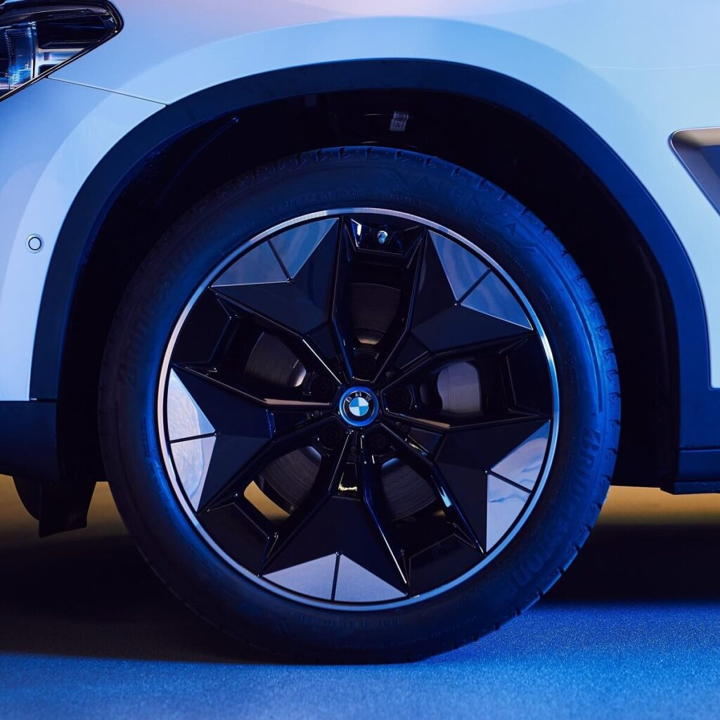 BMW iX3 aerodynamická kola